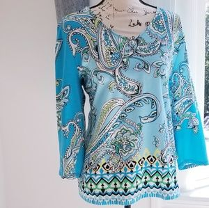 Chico's Gorgeous Breezy Blues Blouse